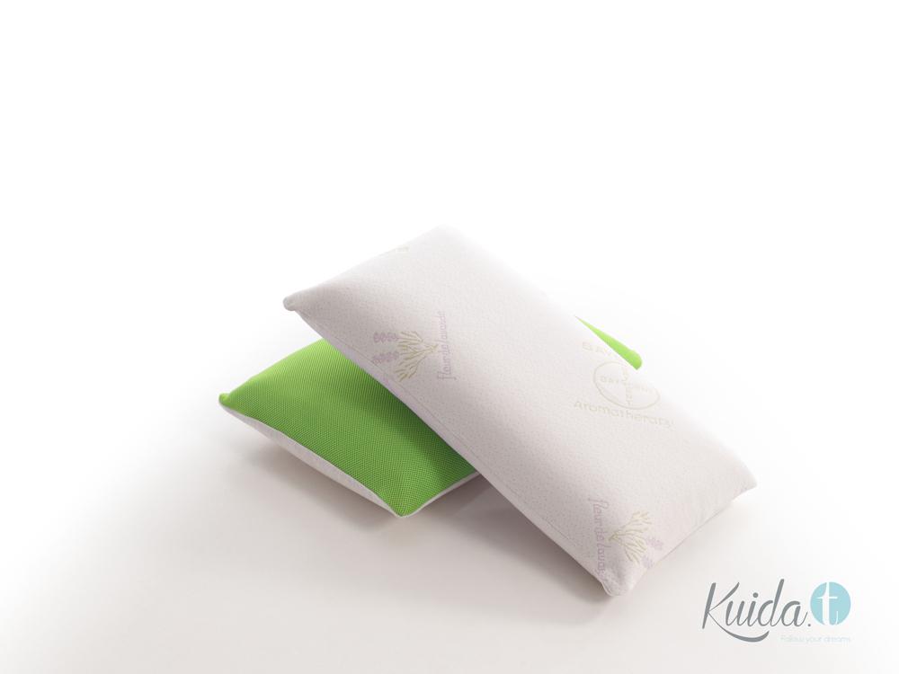 almohada viscoelástica lavanda