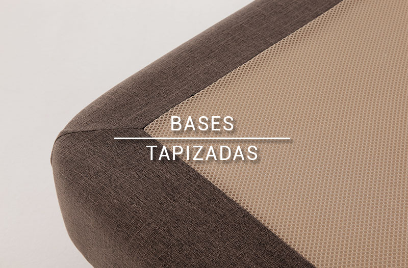 Detalle bases tapizadas
