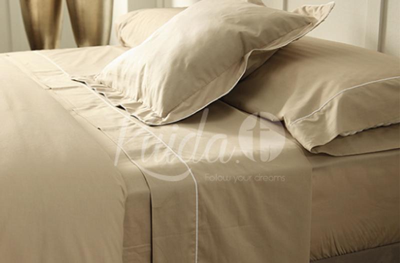 Ropa de cama contraste color beig piedra